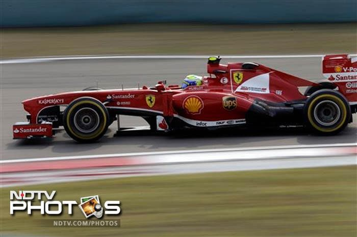 Ferrari driver Felipe Massa was fastest in the second practice for the Chinese Grand Prix in Shanghai. Massa clocked 1 minute, 35.340 seconds.
