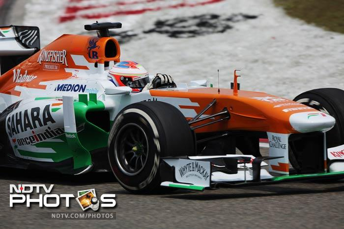 Force India driver Paul di Resta was 9th fastest ahead of Drivers' Championship leader Sebastian Vettel of Red Bull.