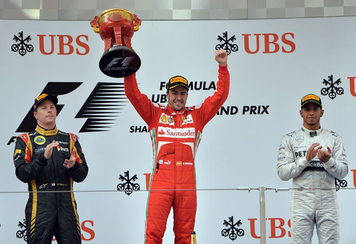 Going into the Bahrain Grand Prix next weekend, reigning three-time world champion Vettel leads the drivers' standings on 52 points, followed by Raikkonen (49), Alonso (43), Hamilton (40) and Massa (30).