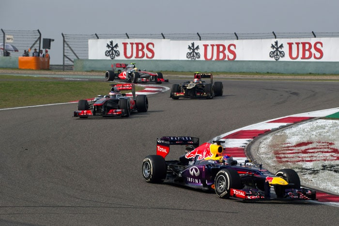 The reigning world champion Sebastian Vettel came home fourth after adopting a different tyre strategy, while his Red Bull team-mate Mark Webber failed to finish. Jenson Button, of McLaren, was fifth, and Felipe Massa sixth.