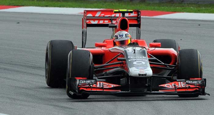 Virgin Racing's Jerome d'Ambrosio will start from the 21st spot. (AFP Photo)