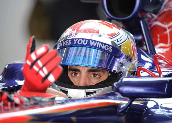 Tor Rosso's Sebastien Buemi will start in the ninth position. (AFP Photo)