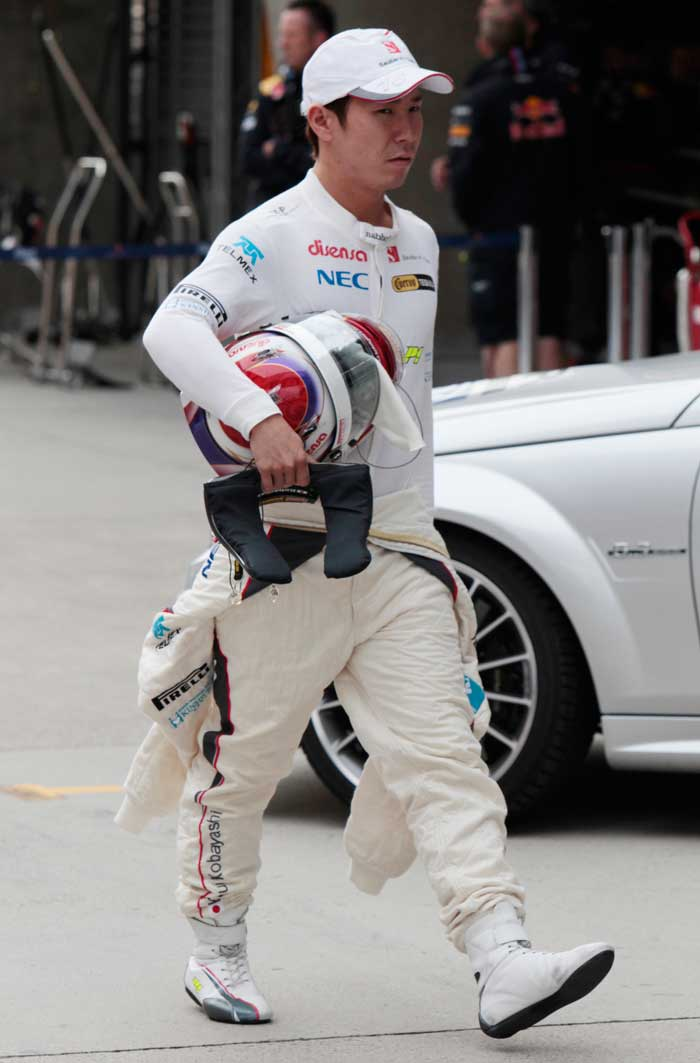 Japan's Kamui Kobayashi will start in 12th position in his Sauber. (AP Photo)