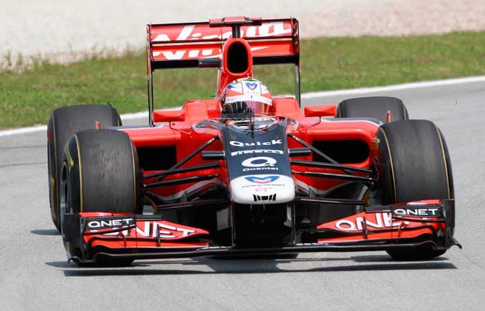 The other Virgin Racing car would start right behind as Germany's Timo Glock will start in the 22nd position. (AP Photo)