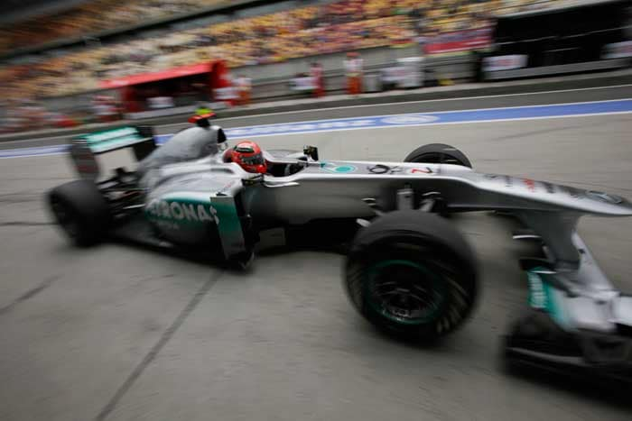 Seven-time-champion Michael Schumacher will start in 14th position in his Mercedes. (AP Photo)