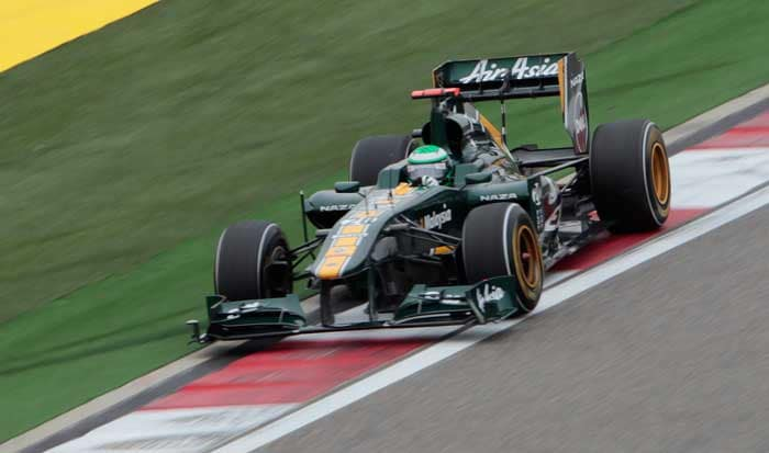 The two Lotus cars will be one behind the other as Jarno Trulli will start in the 20th position. (AP Photo)