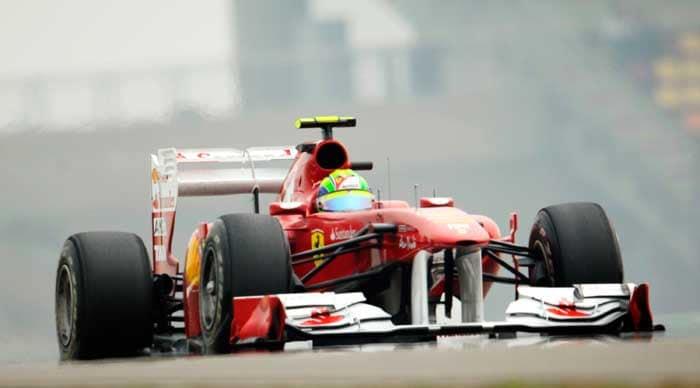 Ferrari driver Felipe Massa of Brazil during the first practice session. (AFP Photo)