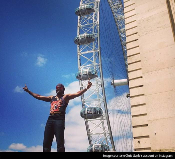 Chris Gayle was seen soaking in the sights and sounds of London during the 2013 edition of the ICC Champions Trophy. (All Images from Gayle's account on Instagram)