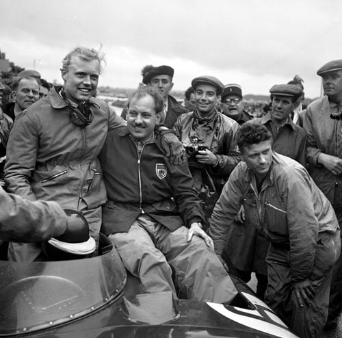 1958 (Mike Hawthorn vs Stirling Moss)<br><br> This season saw an enthralling finale but will unfortunately always be remembered more for other things. It was a season full of tragedies that saw the death of three drivers - Luigi Musso, Peter Collins and Stuart Lewis-Evans. It was also the year when 5 time champion Fangio bid adieu to F1, mid-season, after the French GP.<br><br> In the final race, to make the title his, Stirling Moss needed to win and set the fastest lap and hope that Mike Hawthorn (1st from left) finished third or lower. Moss eventually did win the race but could not prevent Hawthorn from coming in 2nd, resulting in a title triumph for the Briton, by just a point. Hawthorn won the championship despite having only 1 race win to Moss' 4.<br><br> The best 6 results from 11 were included in the final tally and Hawthorn had been the more consistent driver, having placed 2nd in 5 races. Hawthorn however, was so upset with the death of his close friend Collins, that he retired from racing the same year and the following year he himself ended up losing his life in an automobile accident.