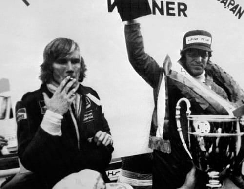 1976 (James Hunt vs Niki Lauda)<br><br> The controversial season saw James Hunt (left) being disqualified as the winner of the Spain GP due to his Mclaren being too wide, only to be reinstated two months after, following a successful appeal. This decision proved to be quite decisive in the title chase as Hunt trailed table leader Niki Lauda by just 3 points going into the final race at the Fuji circuit in Japan.<br><br> Hunt qualified 2nd and Lauda right behind him on 3rd. However, race day witnessed heavy downpour, leading to several drivers protesting the dangerous conditions. After only the 2nd lap, Lauda came into the pits and withdrew from the race, leaving Hunt with an unexpected opponent - nature. The McLaren driver however, refused to give up and kept himself in the hunt, despite suffering severe tyre wear.<br><br> The Briton needed to finish at least 3rd to lay his hands on the trophy but he trailed in the 5th place after suffering a puncture. But, with just two laps to go, Hunt passed both Alan Jones and Clay Regazzoni, who were themselves trying to save their tyres. Hunt finally managed to cross the finish line in the 3rd place to win the championship by a lone point as only the top 7 results from the first 8 races and the best 7 from the last 8 were taken into account.