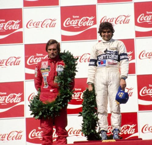 1981 (Nelson Piquet vs Carlos Reutemann)<br><br> Brabham's Nelson Piquet (right) and Williams' Carlos Reutemann (left) were separated by a single point, with the latter being in the lead, while Ligier's Jacques Laffite, 6 points adrift, was the dark horse in this championship battle that reached its climax at Caesars Palace in Las Vegas. Caesars Palace hosted the US GP for the first time after Watkins Glen Course, the circuit that had been the venue for the last 20 years, failed to fulfill its financial obligations.<br><br> Reutemann grabbed the pole, putting himself in a fantastic position, while Piquet qualified 4th. However, on race day, Reutemann's team-mate Alan Jones passed him in the first lap itself, followed by other drivers, and even before the end of the lap, the pole-sitter found himself in the 5th place.<br><br> Things only got worse for the title contender as he braked early while being chased by Piquet on the 17th lap, allowing the Brabham driver to finally pass him. Piquet held on to clinch the 5th spot, just enough to get the 2 points to eclipse Reutemann, who failed to score any point after finishing the race 8th, due to gear box problems. This marked the first of Piquet's three F1 titles.