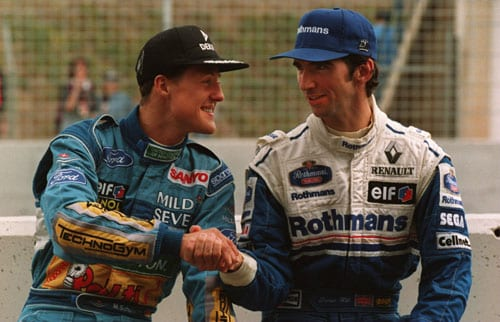 1994 (Michael Schumacher vs Damon Hill)<br><br> This season will always be remembered for the tragic death of three-time world champion Ayrton Senna and Austrian Roland Ratzenberger at the San Marino GP, than anything else. But, this was the year that kicked off F1's most successful driver Michael Schumacher's legacy. Driving for Benetton, Schumi (left) had won 8 races prior to the concluding race in Australia, while Williams' Damon Hill (right) had 6 victories to his name.<br><br> With 91 points in his kitty, Schumi led the Englishman by a single point. He also led him in the qualifying, taking the 2nd spot on the grid while Hill managed 3rd. The German grabbed the lead right at the start with Hill managing to stay right behind him. The order remained the same until lap 35, when things took an unexpected turn. <br><br> While being pursued by Hill, Schumi went off the track and hit a wall, before pulling the car back on track. He was still ahead of Hill, but, barely. Then at the next corner, Hill attempted to pass Schumacher and just when it looked like he would pull ahead, the German turned in, resulting in a collision. Schumacher retired immediately even as Hill hobbled back to the pit to try and repair the damage. But, with the car's front left suspension wishbone suffering heavy damage, Hill also had to retire, gifting Schumi his first F1 title. The triumph however, didn't win Schumi many fans as it became the most controversial win in the history of the sport.