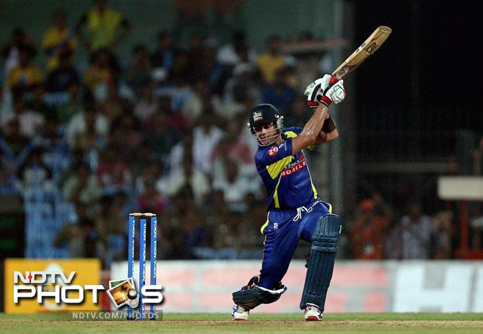 Owais Shah in action during the Champions League T20 match between Cape Cobras and Chennai Super Kings in Chennai. (PTI Photo)