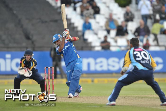 Rohit Sharma of the Mumbai Indians bats during Match 11 of the Champions League T20 between the Mumbai Indians (India) and Yorkshire (England) at Newlands Cricket Stadium in Cape Town. (AFP Photo)