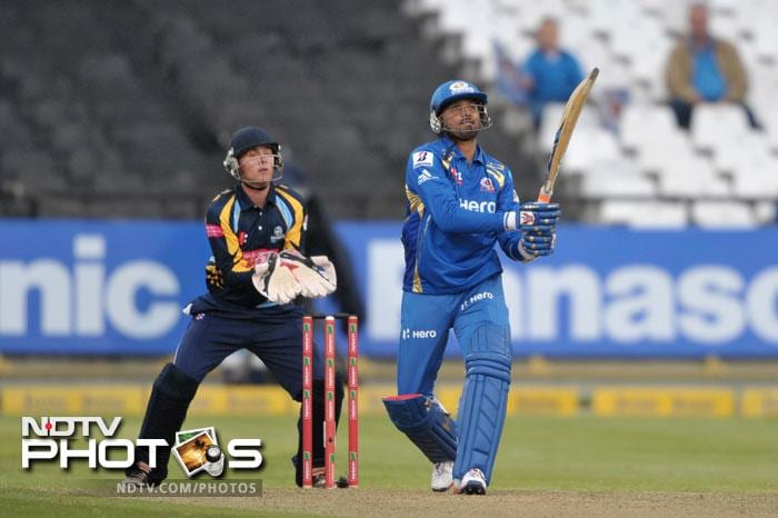 Harbhajan Singh of the Mumbai Indians looks on after a boundary during Match 11 of the Champions League T20 between the Mumbai Indians (India) and Yorkshire (England) at Newlands Cricket Stadium in Cape Town. (AFP Photo)