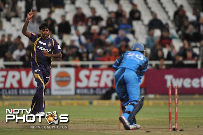 Lakshmipathy Balaji bowled his team to victory scalping 4 wickets as the Titans were skittled out for 89. The 99 run victory was a consolation win for Kolkata as they go home with one win from 4 games.