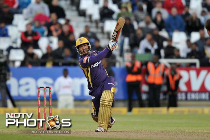 In the second match it was Debabrata Das who provided the finishing touches for Kolkata Knight Riders hitting 43 not out from 19 balls to put up an imposing 188/5 against Nashua Titans.