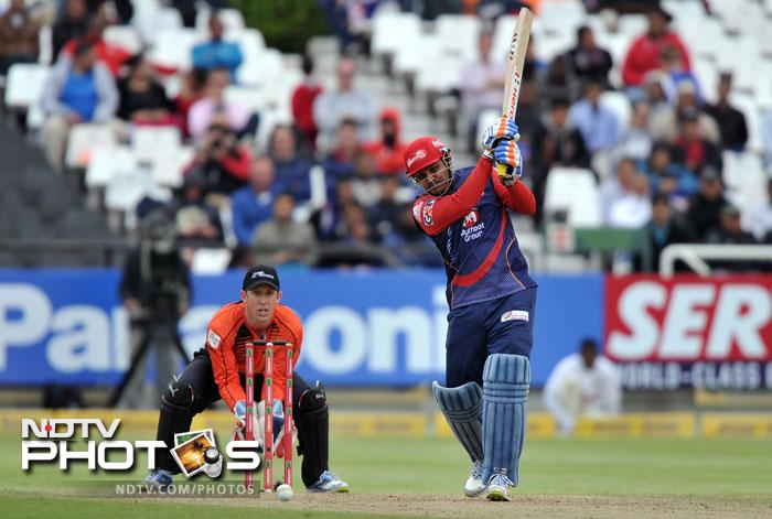Virender Sehwag came to the party with a 44 ball 52 and had a huge role to play as Delhi scraped home with 3 wickets in hand and 3 balls to spare.