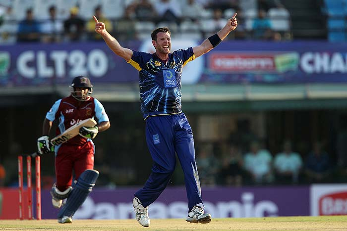 Ian Butler was the pick of the bowlers as he scalped three wickets in one over - including that of Upul Tharanga.