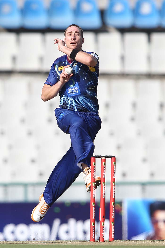 James McMillan picked up the first wicket for Otago Volts to give the kind of start they needed. (All BCCI images)