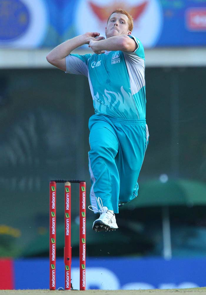 Brisbane Heat pacer Alister McDermott starred with the ball and picked up four wickets but Denesh Ramdin scored a crucial 48 to give Trinidad & Tobago some respectability. (All BCCI images)