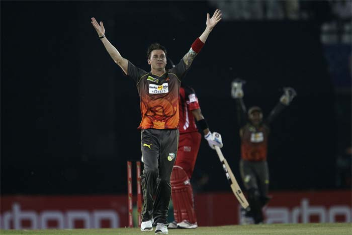 It all started with Dale Steyn taking the wicket on the very first ball of the match when he dismissed Lendl Simmons caught behind. (All BCCI images)