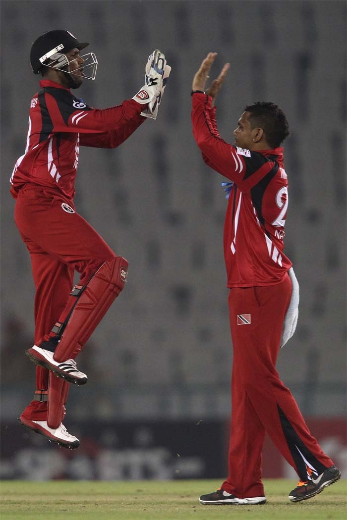 Sunil Narine was sensational with his tight line and length. He bagged wickets at regular intervals to finish with 4/9.