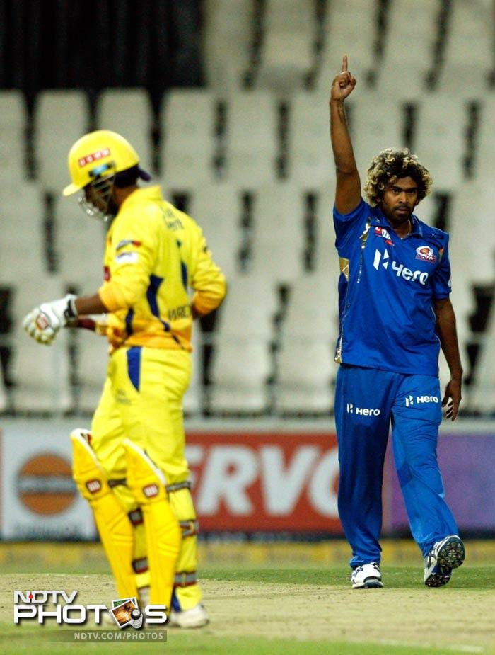 Lasith Malinga was the lone bright spot for the Mumbai Indians as the Sri Lankan picked up five wickets for 32 runs.