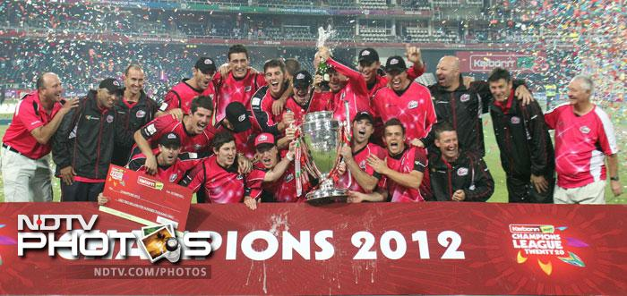 Sydney Sixers made a mockery of the final of the Champions League T20 as they delivered a huge defeat to Highveld Lions at Johannesburg. Chasing a mere 121 for victory the Sixers cruised home with 10 wickets and almost 8 overs to spare. (AP & AFP Photos)