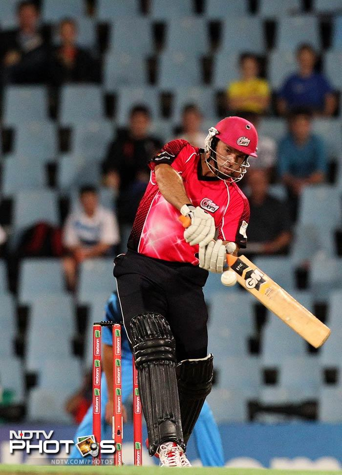 Michael Lumb was the more attacking partner in the opening stand as he scored 33 from 19 balls.