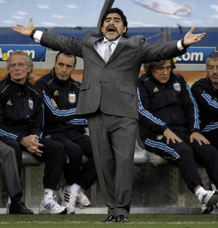 <b>Diego Maradona: </b>So what if his team crashed out in the quarterfinals, there is no way any other coach could be more popular than Diego Maradona. Agreed he wasn't the best coach at the World Cup but he captured everyone's imagination with his animated and colorful self.
