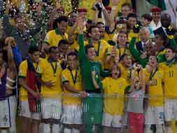 Photo : Confederations Cup: The Samba stars celebrate