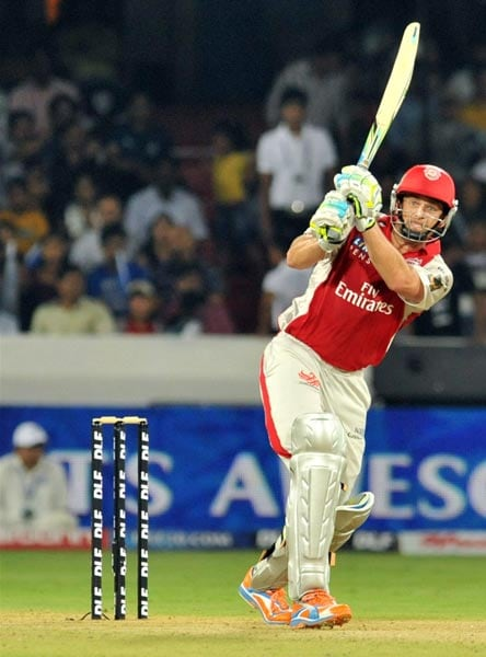 He led the Deccan Chargers in the first three editions of the IPL. In 2009, his team claimed the title. Now the captain of the Kings XI Punjab, Adam Gilchrist in 2011 accused an official of his former team of bad-mouthing him. (AFP PHOTO)