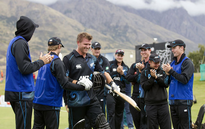 Riding on Anderson's merciless onslaught, the Kiwis marched on to a 153-run victory to level the five-match series 1-1.