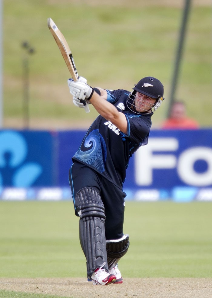 New Zealand's Corey Anderson began 2014 with a bang, slamming the fastest ODI century off just 36 balls against the West Indies on Wednesday (All images AFP)