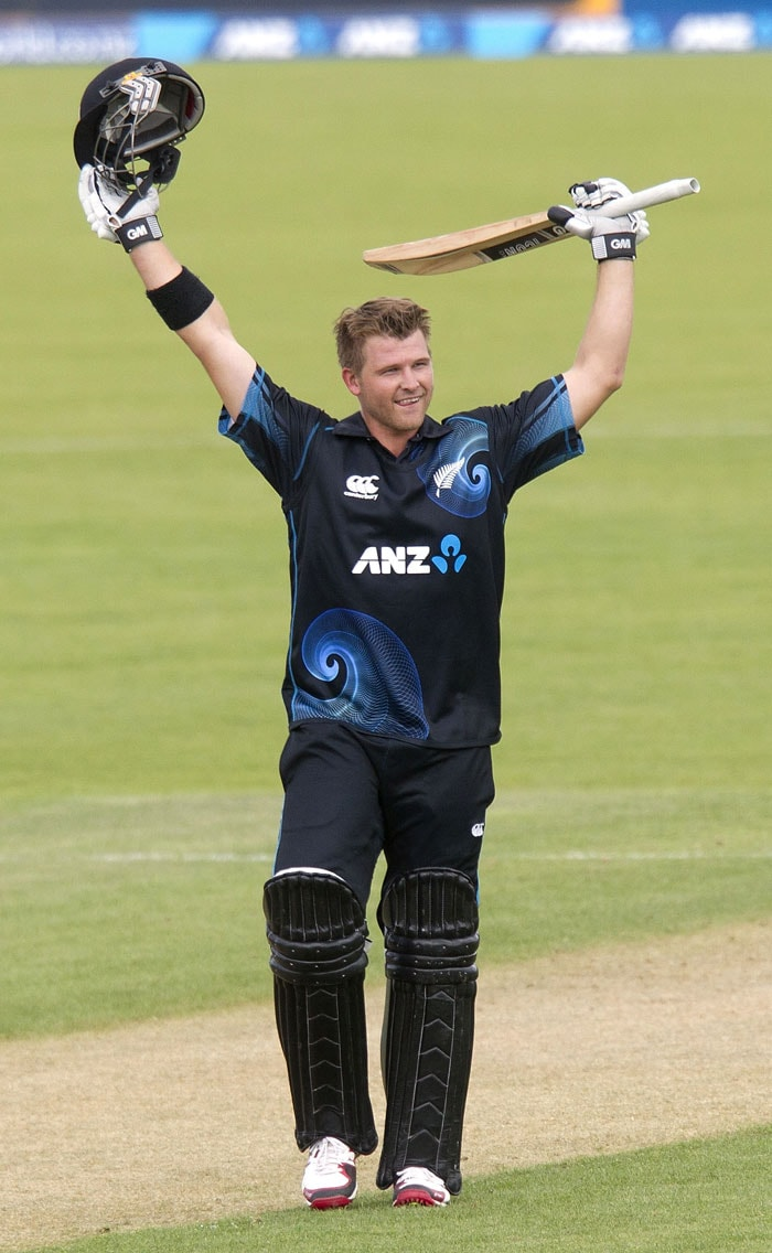 Anderson's blazing knock and a 190-run stand with Jesse Ryder for the fourth wicket set the Kiwis up to a massive total of 283 in just 21 overs.