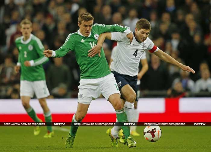 In the night's standout friendly, England suffered their second successive defeat at Wembley as Germany triumphed 1-0. (AFP image)