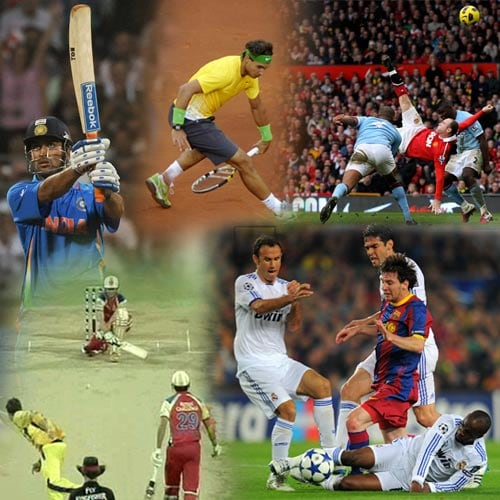 From MS Dhoni's World Cup winning six to Rafael Nadal's between the legs lob to Novak Djokovic, here's a compilation of some crazy action from this season.