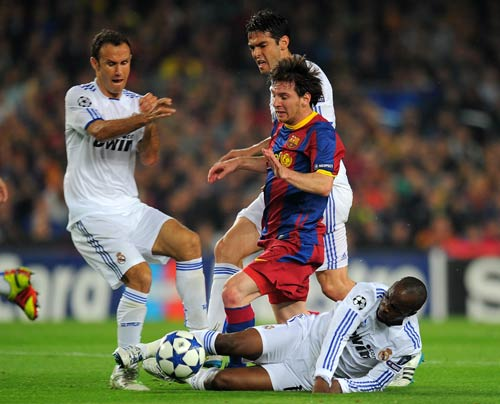 Alright, so you've seen better? Well, let us just up the ante then. We bring you Barcelona's Argentinean forward Lionel Messi, who goes past, one Real Madrid defender, the 2nd, the 3rd, the 4th and then with a touch of brilliance took the tie away from Real at the Camp Nou stadium in Barcelona.