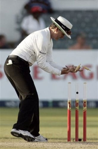 2009 will also be remembered as the year when the umpire's decision ceased to be final, a television referral system allowing teams to challenge verdicts.<br><br>But there were questions over whether the available technology was up to the task and if some television umpires were overuling too often, rather than merely eliminating the obvious 'howlers' the system was designed to detect.<br><br>Traditionalists insisted the solution to the problem of better umpiring was better umpiring while modernisers said it was pointless pretending television did not exist.