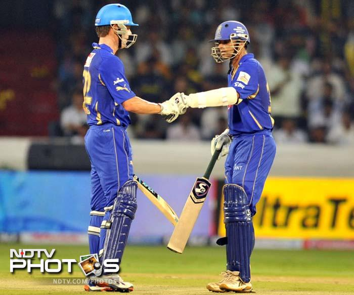 <b>217 for 7 </b>Highest successful chase in IPL, accomplished by Rajasthan Royals against Deccan Chargers at Hyderabad in 2008.