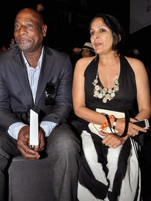 <b>Neena Gupta and Sir Viv Richards:</b> Neena Gupta, a veteran actor and TV director, had a short and controversial relationship with West Indies cricket legend Sir Vivian Richards. Although they did not marry, they are proud parents of Masaba Gupta, one of India's most talented young fashion designers.