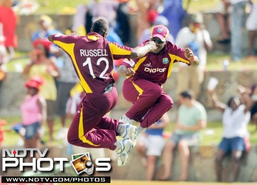 The West Indies were down and out after losing the first 3 matches of the 5-match series against India, but the Caribbean party does not take much to kick off as demonstrated here by Andre Russell and Darren Bravo during their win in the fourth ODI.