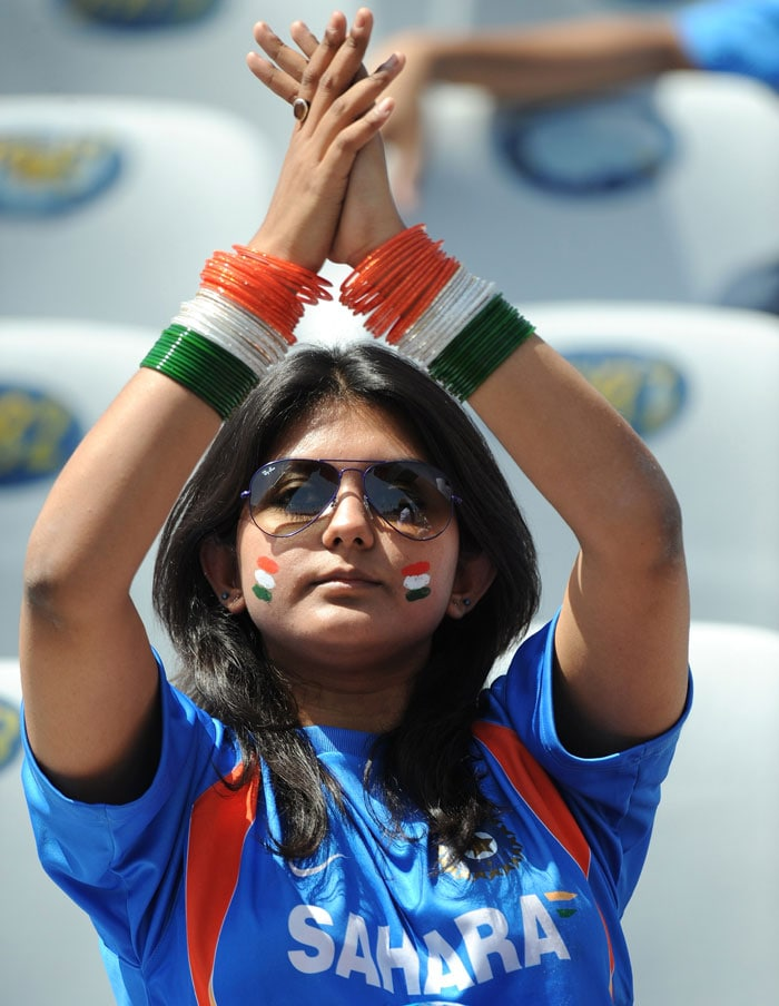 With tricolour bangles, this lady has taken fan frenzy to another level.