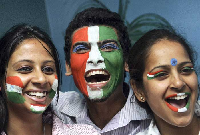 Enthusiasm reaches its zenith with the country's youth doing all they can for the team.