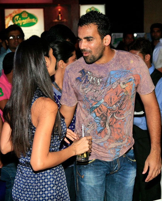 Indian pace spearhead Zaheer Khan too likes to play hard and party harder. Known for his aggressiveness, Zaheer has been reprimanded earlier on disciplinary grounds.