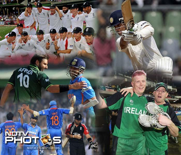 India's World Cup win after a gap of 28 years was undoubtedly the highest point in cricket in the year 2011. But that was not the end of all. There were many such moments that make the game of cricket one of the most enchanting sports. Here is a compilation of top 10 cricket moments of the year 2011.