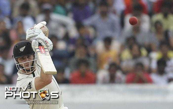 Kane Williamson fought hard as he made a patient fifty to keep the hosts at bay.