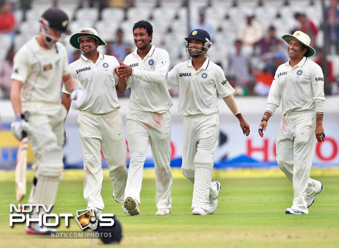 Ultimately the Kiwis folded up for 164 in their second innings to hand India a victory by an innings and 115 runs. Team India shall have their tails up going into the next match at Bangalore while the tourists have a lot to think about.