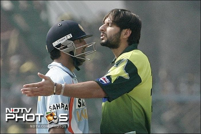 During the third ODI at Kanpur in 2007, another episode in Indo-Pakistan rivalry was added when Indian opener Gautam Gambhir and Shahid Afridi got indulged in a verbal war. Gambhir was scoring at a good rate when Afridi said some undesirable words. This fired up Gambhir and he retaliated with equal vengeance.